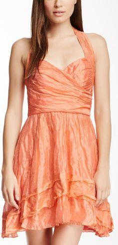 Nicole Miller Erin Tiered Silk Blend Dress