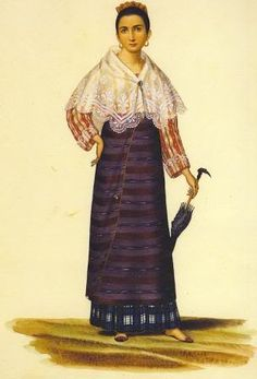 Untitled (Mestiza with Embroidered Panuelo and Parasol). World History Facts, Nasa History, Study History, Mystery Of History, Women In History, History Museum, History Quotes, Philippines Fashion, Philippines Culture