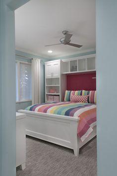 Kleine schlafzimmer gr er aussehen bett traditionell for Jugendzimmer utah