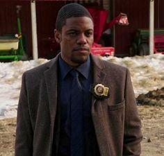 Marcus investigating the case