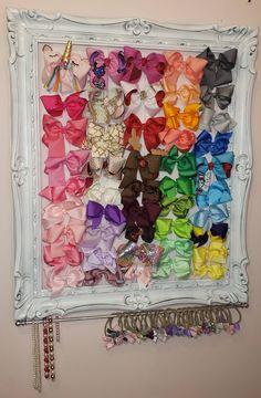 Hair Bow Storage, Headband Storage, Hair Accessories Storage, Jewelry Accessories, Diy Hair Bow Holder, Bow Holders, Headband Holders, Hair Clip Organizer, Large Hair Bows