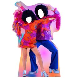 Advanced Graphics 70's Dance Couple Cardboard Cutout Stand-In & Reviews | Wayfair