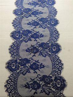 10ft navy Lace Table runner 12  navy  table by WeddingTableRunners