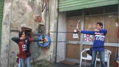 La genoana Alessandra Cuneo e la sampdoriana Dajla Boatti, protagoniste del #derby di tiro con l'arco...