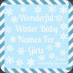 Wonderful Winter baby names for girls