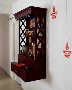 Best 5 pooja room designs for Indian homes - Truww Pooja Room Door Design, Home Room Design, Home Interior Design, House Design, Indian Home Interior, Indian Home Decor, Temple Design For Home, Mandir Design, Diy Cabinet Doors