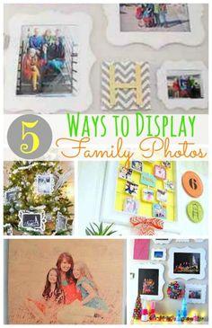 5 Ways to Display Family Photos | Tatertots and Jello for eBay (spon)