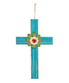 Medium Blue Cross #zulily #zulilyfinds