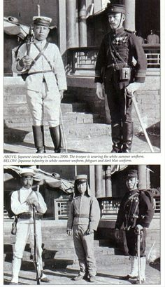 Japanese soldiers in China during the Boxer Rebellion.
