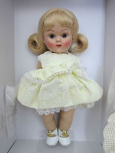 Vogue-Ginny-1950s-Reproduction-GLAD-Doll-LE-2004-NIB-Yellow-dress-4SL013