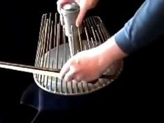 This is what they use to make creepy sounds in movies. Waterphone Instrument Video | POPSUGAR Entertainment