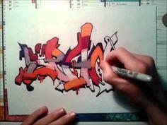 "▶ "" spane 34 "" graffiti blackbook sketch full colors on paper =) - YouTube"