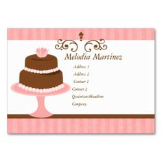 African american baker cup cakes business card pinterest cake pretty cake business card reheart Image collections