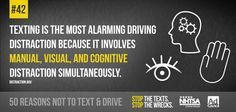 is distracted driving at it's finest. is a manual, visual, & cognitive distraction all mixed together. Texting While Driving, Distracted Driving, Driving Tips, Dont Text And Drive, Trauma Center, Back Off, Car Insurance, Text Messages, Losing Me