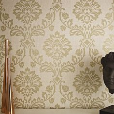 Aurora Beige / Gold Wallpaper by Graham and Brown $34 a roll