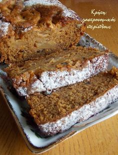 Vegan Sweets, Sweets Recipes, Cake Recipes, Greek Sweets, Greek Desserts, Greek Recipes, Meals Without Meat, Diet Cake, Cooking Cake
