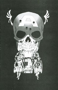 Rejected cover for Captain America #113 by Jim Steranko. The final version is here.
