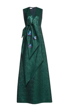 Sleeveless Bow Front Gown by DELPOZO for Preorder on Moda Operandi