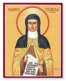 """""""Remember that everything soon comes to an end; take courage."""" ~ St. Teresa of Avila"""