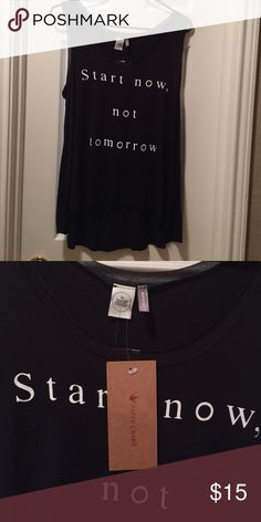 Black Long Flowy Tank Top Start today! Brand new. Make me an offer! Paper Crane Tops Tank Tops