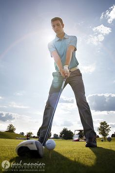 Golf Senior Pictures Ideas for Guys
