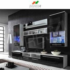 modular lcd rack panel tv moderno living fabrica baires 4