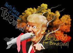 Digital illustration... On Trump's tweets on North Korea...