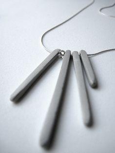 Concrete Icicles - Necklace. $37.00, via Etsy.
