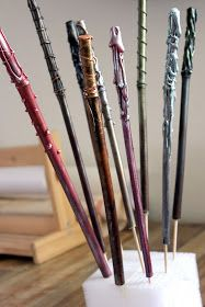 Hideous! Dreadful! Stinky!: Wand Tutorial for DIY Craft at a Harry Potter Party