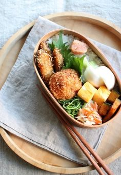 Japanese Bento Boxed Lunch Japanese Lunch Box, Japanese Food, Bento Recipes, Bento Box Lunch, No Cook Meals, Asian Recipes, Food Inspiration, Dishes, Drink