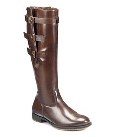 Take a look at this ECCO Cocoa Brown Saunter GTX 3 Buckle Boot on zulily today!
