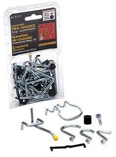 LeHigh Crawford 32-Piece Locking Peg Hook Assortment #1832A