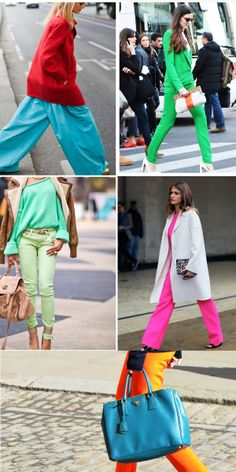 Do = Experiement with solid colors and dressing in head-to-toe monochromaric color.
