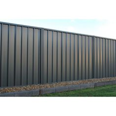 Fielders Rivergum Double Sided Steel Fencing Panel I/N 0910045 Farm Fence, Backyard Fences, Fenced In Yard, Corrugated Metal Fence, Metal Fence Panels, Willow Fence, Diy Privacy Fence, Fence Screening, Types Of Fences