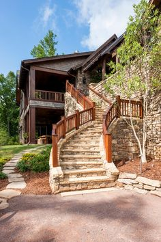 Stacked Stone Stairs Eclectic Outdoor Design