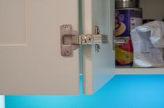Softclose hinge detail on shaker style kitchen cabinet door - Sheffield…