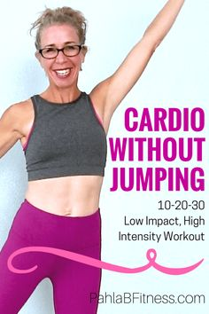 GREAT for anyone with weak joints! 25 Minute LOW IMPACT Cardio Workout Routine for Endurance, Fat Loss and Body Shaping - Full Length Home Workout from Pahla B Fitness Workout Hiit, Low Impact Cardio Workout, Cardio Training, Kettlebell Training, High Intensity Workout, Low Impact Hiit, Exercise Workouts, Workout Plans, Leg Exercises