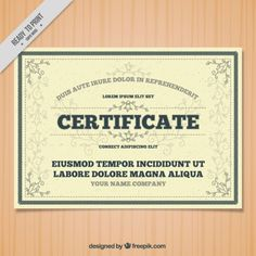 Certificate with ornamental details Free Vector Vector Free Download, Free Vector Graphics, Certificate Design Template, Free Design, Drawing, Names, Illustration, Templates, Ornaments