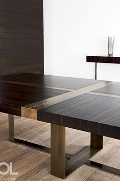 Dining table - Hélène et Olivier Lempereur, table Custom Furniture, Modern Furniture, Home Furniture, Furniture Design, Home Design, Interior Design, Design Ideas, Furniture Dining Table, Dining Room Table