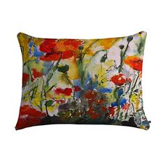 Deny Designs Ginette Fine Art Wildflowers Poppies 1 Pet Bed, 28 by 18-Inch