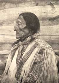 Charging Eagle - born 1829 to Mandan Chief Four Bears & Brown Woman (Mandan) @ Fort Clark. He spent his 1st 8 years growing up in the Ft. Clark village. Charging Eagle's parents died in the 1837 Small-pox Epidemic. In 1898, Charging Eagle, Poor Wolf & Wounded Face visited Washington, D.C. to delegate compensation for lands taken during the building of the railroad through the reservation. In his remembrance, many landmarks bear his name.