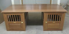 Desktop for Handmade Solid Mahogany Wood Dog Crates Made in USA