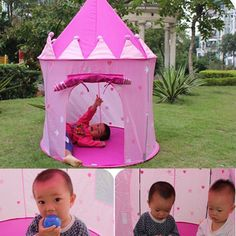 Portable Foldable Play Tent Prince Folding Tent Kids Children Boy Castle Cubby Play House Kids Gifts Outdoor Toy Tents #>=#>=#>=#>=#> Click on the pin to check out discount price, color, size, shipping, etc. Save and like it!