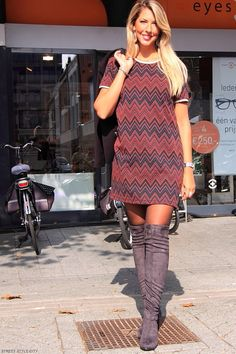 https://flic.kr/p/LJaRoN | IMG_8224  Dress boots otk knee high heels pantyhose sexy legs ootd look outfit dutch girl street style fashion | streetstylecity.blogspot.com Visit for more pictures.  See the link in the first commemt to see more pictures on my fashion blog.  streetstylecity.blogspot.com