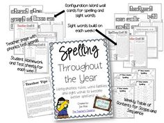 Spelling Throughout the Year: Using phonics rules, word families, and sight words to become better spellers! 2nd grade edition