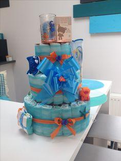 Gâteau de couches sur le thème de nemo