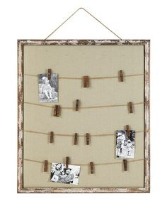 Wood Memo Board~~Idea for in craft room...photos, to do's, etc.