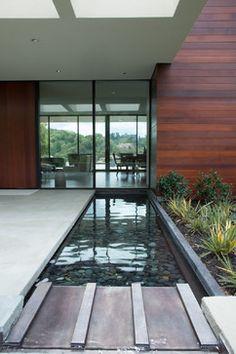 31 Ideas For Backyard Pool Simple Water Features Modern Landscape Design, Landscape Plans, Modern Landscaping, Contemporary Landscape, Modern Design, Inexpensive Landscaping, Nice Landscape, Modern Backyard, Landscaping Software