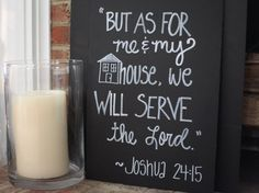 Decorative Bible verse chalk board sign by Sweetpeasparty on Etsy