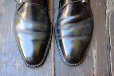 http://chicerman.com  dandyshoecare:  Before and After  Luxury Treatments by Dandy Shoe Care.  Your shoes are a sort of a business card. Do not neglect this important aspect of the look. Please ask Dandy Shoe Care to turn your shoes into a great example of true class and distinguished elegance.  #menshoes